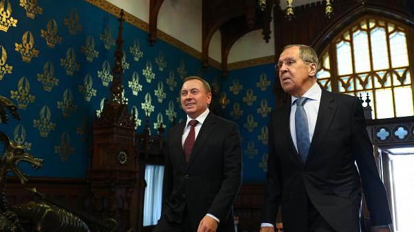 Russian Foreign Minister Sergei Lavrov meets with his Belarusian counterpart Vladimir Makei in Moscow