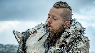 Espen Hatleskog and his Alaskan Malamute, Fenris.
