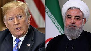 صورة مركبة للرئيس الإيراني حسن روحاني والرئيس الأمريكي دونالد ترامب