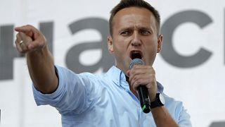 Foto de archivo: Alexei Navalni en una protesta en julio de 2019 en Moscú, Rusia.