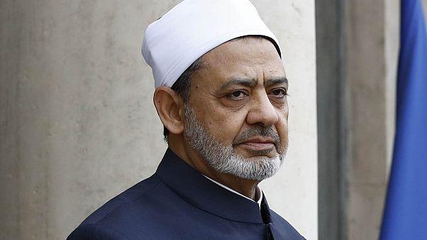 شيخ الأزهر أحمد محمد الطيب في زيارة إلى باريس، 24 مايو / أيار 2016