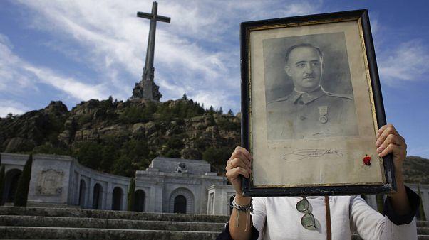 Οπαδός του Φράνκο κρατά το πορτρέτο του δικτάτορα