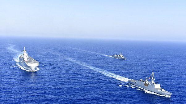 Πλοία στην ανατολική Μεσόγειο