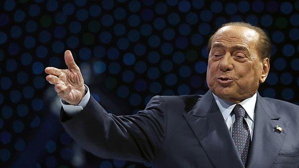 Silvio Berlusconi, Italian former Premier and President of Forza Italia party.