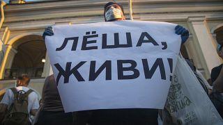 Сторонники Навального вышли на пикет в поддержку свеого лидера (фото АР, архив)