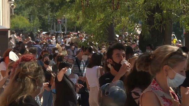 Colas para hacerse el test serológico en Madrid