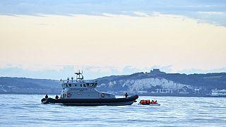 Interception de migrants sur La Manche par une patrouille britannique le 1/09/2020