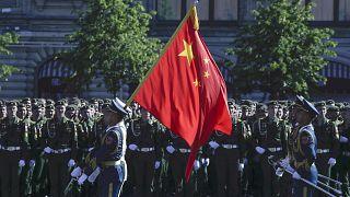 استعراض للجنود الصينيين في الذكرى 75 ليوم النصر على النازية في الساحة الحمراء في موسكو - 2020/06/24