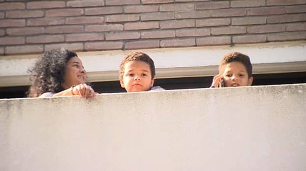 Children returning from Spain in quarantine ahead of school start in Brussels.