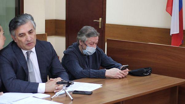 Михаил Ефремов на судебных слушаниях