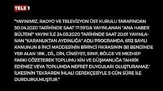 TELE 1 Ekranı