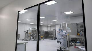 Laboratuvarda aşı üzerine çalışan araştırmacılar