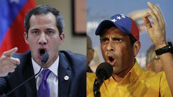 Venezuela muhalefet liderleri Juan Guaido// Henrique Capriles