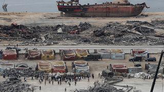 Beyrut'ta patlamanın meydana geldiği liman