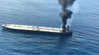 Fire on oil tanker off Sri Lanka is 'under control,' navy says