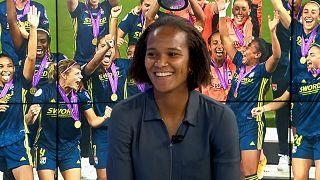 Lyon-Kapitänin Wendie Renard während des Gesprächs mit Euronews