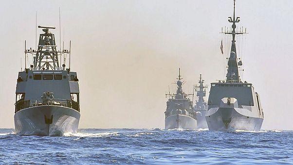 Török hadihajók a Földközi-tengeren