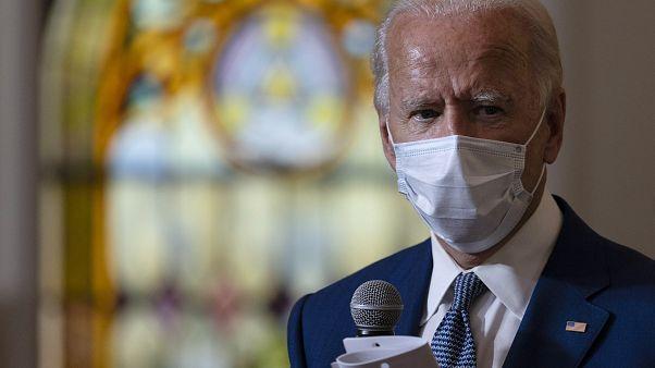 Joe Biden während seines Besuchs in Kenosha