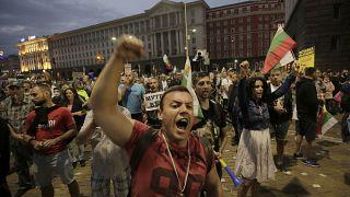 Протестующие в центре Софии