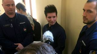 2019 photo of Rui Pinto ahead of his extradition from Hungary to Portugal