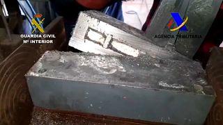 Cocaína descubierta en maquinaria industrial