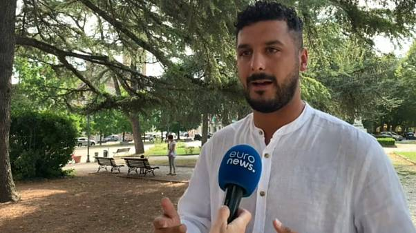 'Future is Now' leader Yassine El Ghlid speaking to Euronews