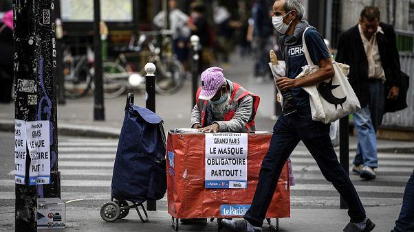 Anuncio del uso obligatorio de mascarilla en las calles de París este 1 de septiembre