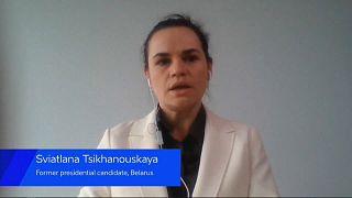"""Tijanóvskaya: """"El régimen de Lukashenko está moralmente en bancarrota"""""""