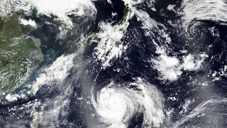 صورة لإعصار من خلال الأقمار الصناعية