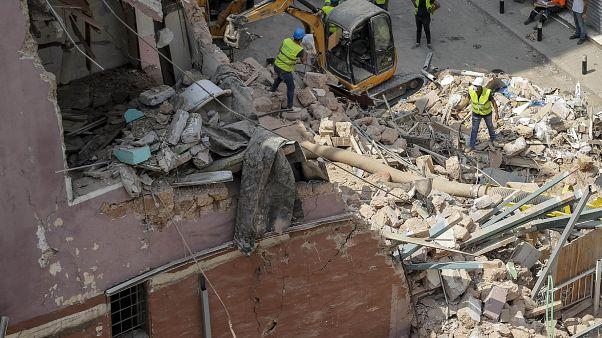 Beyrut'ta arama kurtama operasyonu