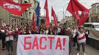 """""""BASTA!"""" Marsch der Frauen gegen Lukaschenko"""