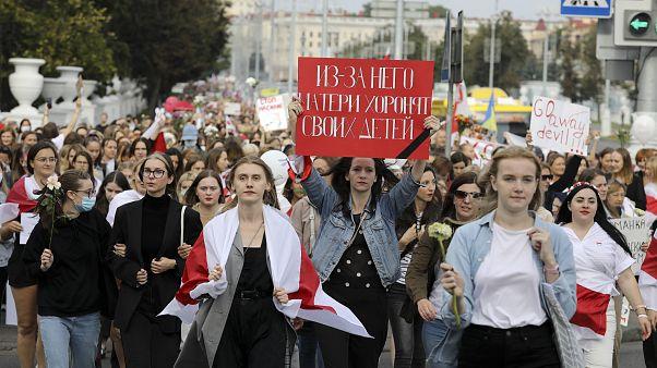 Minsk, manifestazione contro Lukashenko