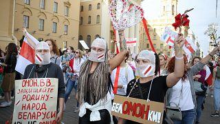 Belarus'un başkenti Minsk'te protesto