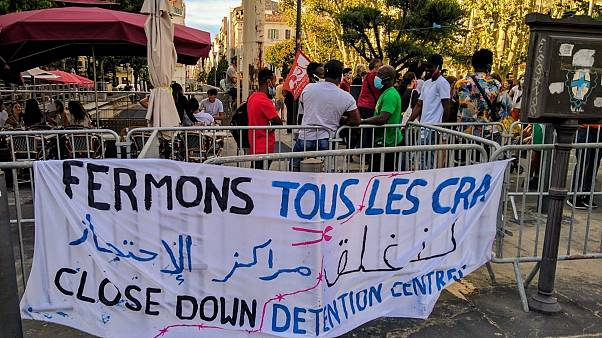 A previous demonstration calling for the closures of the detention centres