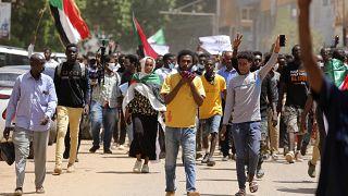 Sudan'da bir halk protestosu