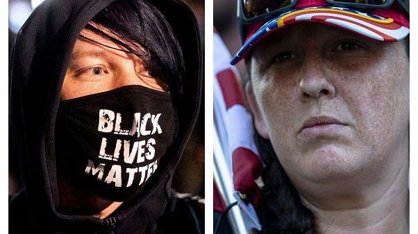 Manifestanti dei Black Lives Matter e dei nazionalisti patriottici
