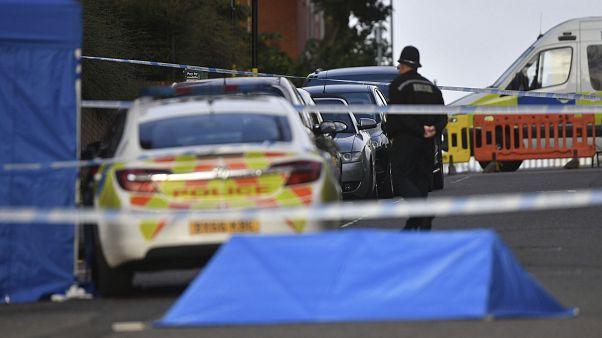 Gesperrte Straße nach dem Vorfall in Birmingham