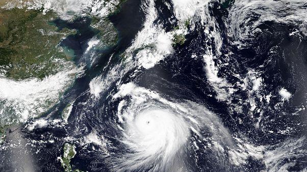 صورة من الفضاء للإعصار هايشن