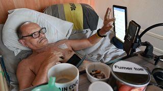 Alain Cocq dans son appartement le 12 août 2020
