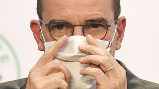 French Prime Minister Jean Castex speaks during a press conference to present the government's recovery plan for economy from the Covid-19 pandemic. Paris, Sept. 3, 2020.