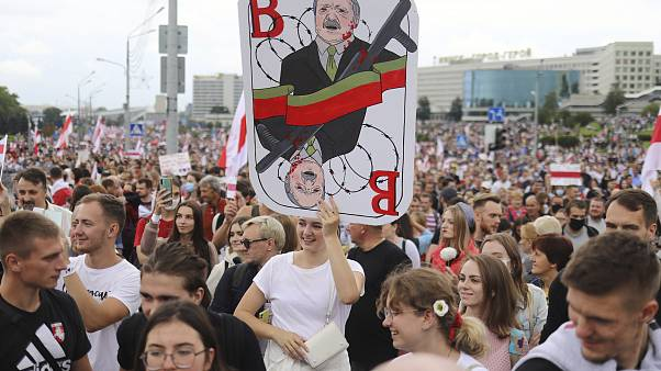 Во время антиправительственной акции в Минске
