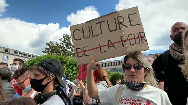 Manifestation de travailleurs d'un secteur culturel belge à bout de souffle