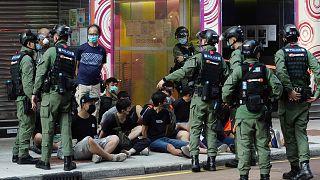 Hong Kong'daki eylemlerde 90 gözaltı
