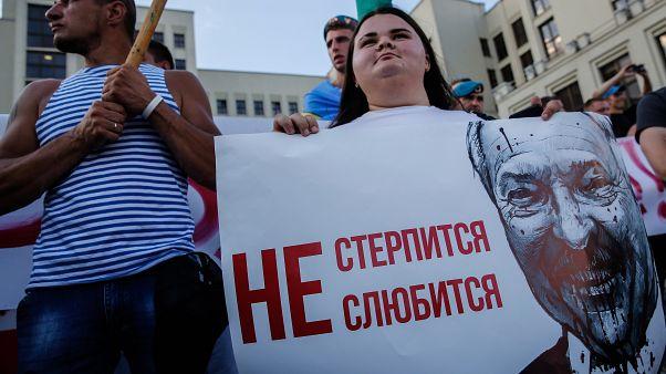Tüntetés Minszkben