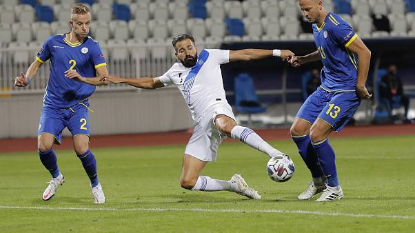 Στιγμιότυπο από το παιχνίδι Κόσοβο - Ελλάδα