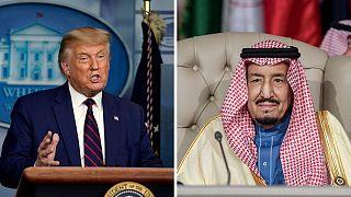 گفتگوی تلفنی ملک سلمان با ترامپ