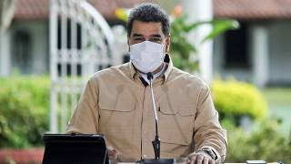 El presidente de Venezuela, Nicolás Maduro, con mascarilla