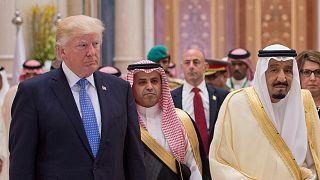 الملك السعودي سلمان بن عبد العزيز آل سعود والرئيس الأمريكي دونالد ترامب