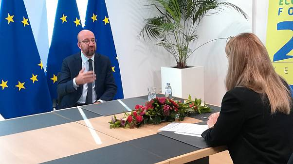 EU Council president Charles Michel ahead of Brussels Economic Forum