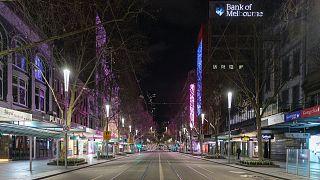 Kihalt Melbourne főutcája, a Swanston Street
